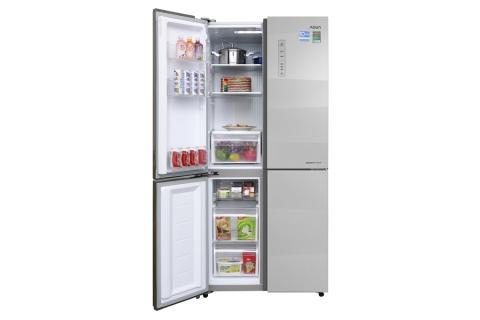 Tủ lạnh Aqua Inverter 516 lít AQR-IG525AM GS