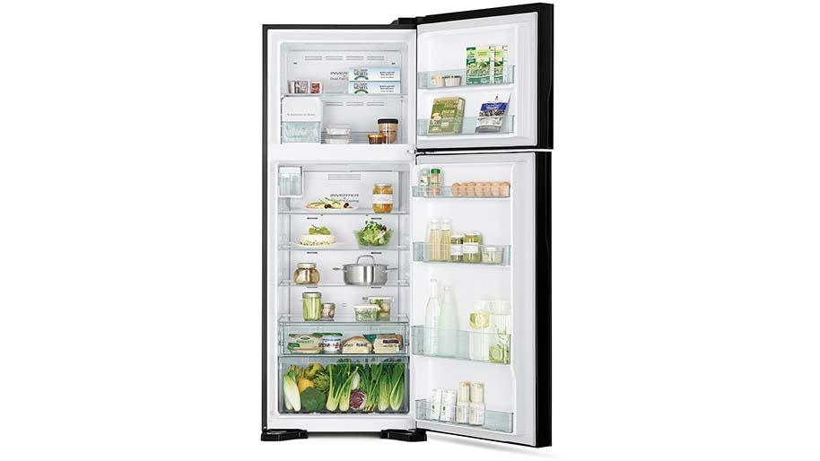 Tủ lạnh 2 cửaHitachi R-FG560PGV8X(GBK) dung tích 450 lít Thoải mái bảo quản thực phẩm
