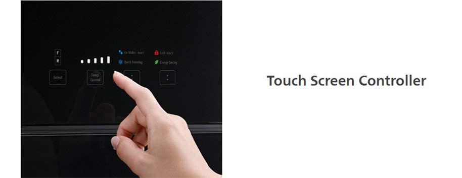 Tủ lạnh Hitachi R-FG560PGV8X(GBK) Bảng điều khiển cảm ứng bên ngoài cửa tủ