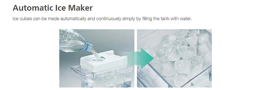 Tủ lạnh Hitachi R-FG560PGV8X(GBK) có khả năng Làm đá tự động