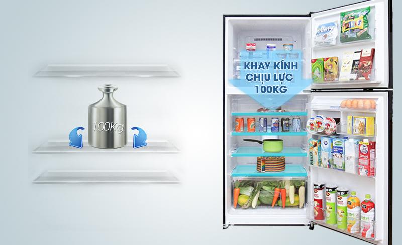 Khay kính của tủ lạnh Mitsubishi Electric MR-F42EH-BRW có khả năng chịu lực tốt