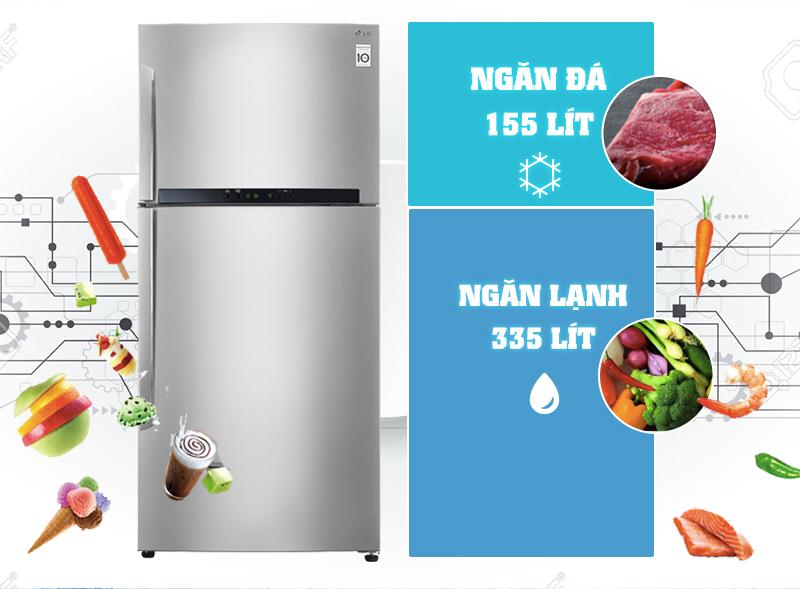 Với thiết kế sang trọng và gam màu có phần tinh tế, tủ lạnh LG GR-L702S sẽ mang đến cho người dùng một góc bếp thật hiện đại