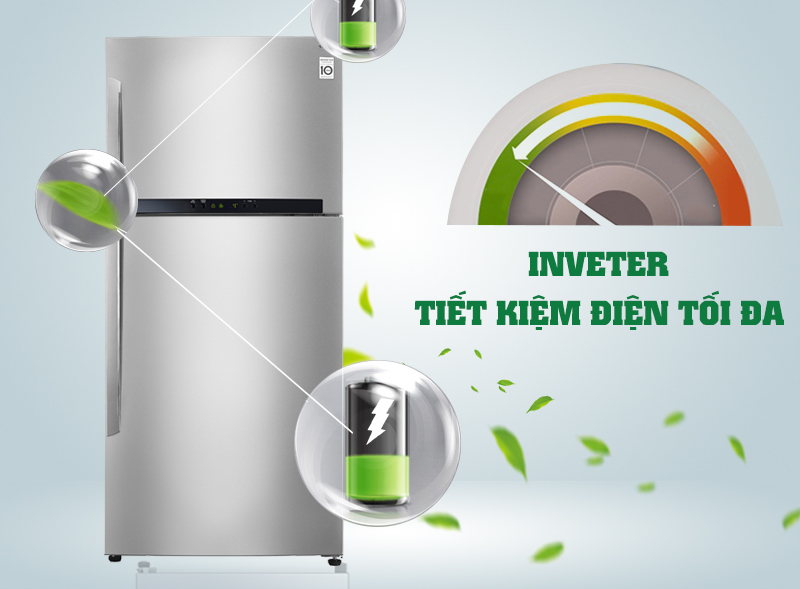 Với máy nén Inverter tiết kiệm điện, tủ lạnh LG GR-L702S sẽ giảm đi những chi phí tiền điện cho gia đình bạn