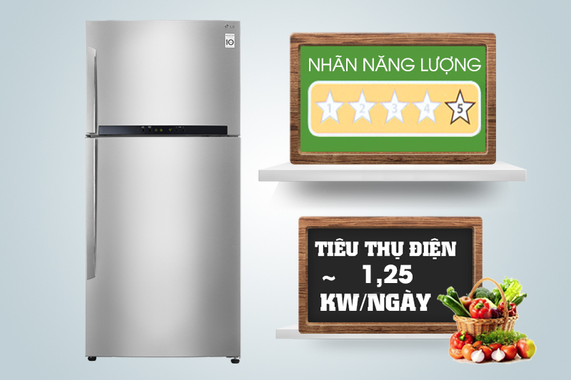 Mỗi ngày, nhờ công nghệ Inverter nên chiếc tủ lạnh này chỉ tiêu thụ khoảng 1.25 kW điện