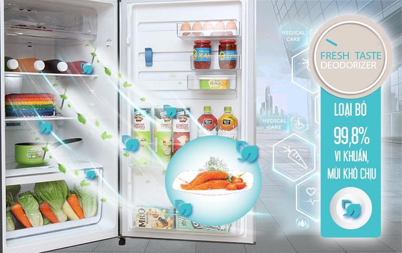 Tủ lạnh Electrolux ETB3202MG có khả năng khử mùi với FreshTaste khá tốt