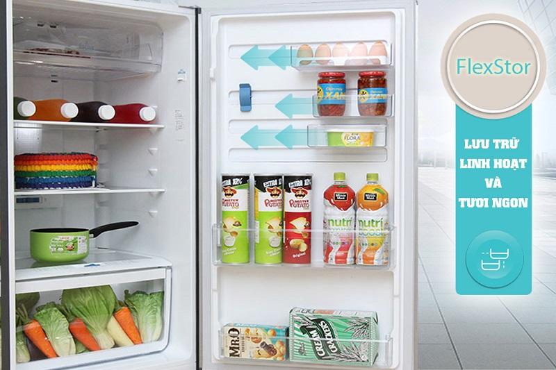 Khay kệ FlexStor giữ cho các thực phẩm trong tủ lạnh Electrolux ETB3202MG dễ dàng được sắp xếp hơn