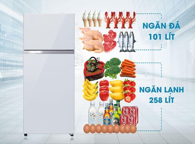 Tủ lạnh Toshiba GR-TG41VPDZ (ZW1) có thiết kế sang trọng nhờ gam màu trắng tinh tế