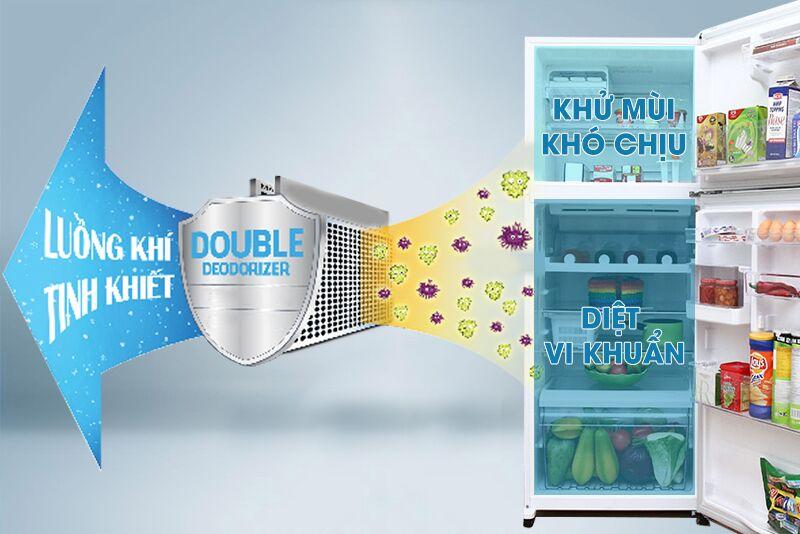 Công nghệ khử mùi kép Double Deodorizer có lớp kháng khuẩn kép