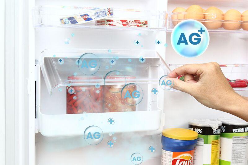 Tủ lạnh Toshiba GR-TG41VPDZ (ZW1) có hộp tiện ích nhỏ với chất liệu kháng khuẩn Ag+