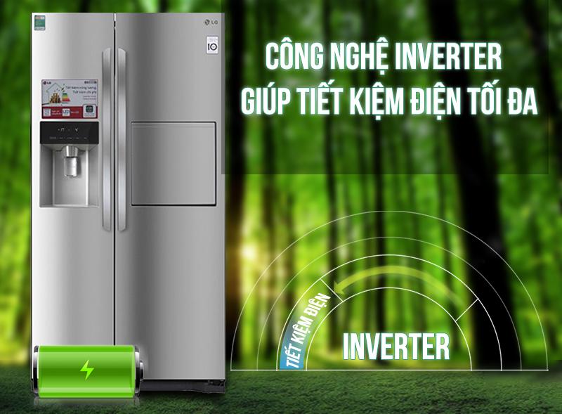 Tủ lạnh LG GR-P227GS có máy biến tần Inverter Linear với việc thay đổi một số cấu trúc trong máy móc