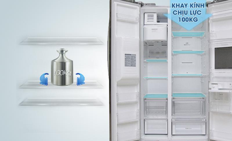 Tủ lạnh LG GR-P227GS có khay kính chịu lực