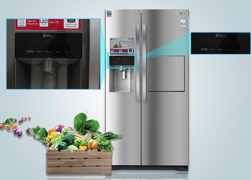 Bảng điều khiển bên ngoài của tủ lạnh sẽ đảm bảo quá trình tùy chỉnh nhiệt độ tủ diễn ra một cách dễ dàng hơn
