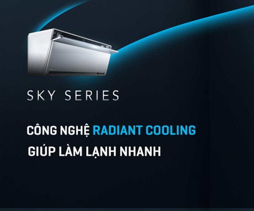 """Điều hòa Panasonic Sky Series với công nghệ """"Radiant Cooling"""" giúp làm lạnh nhanh"""