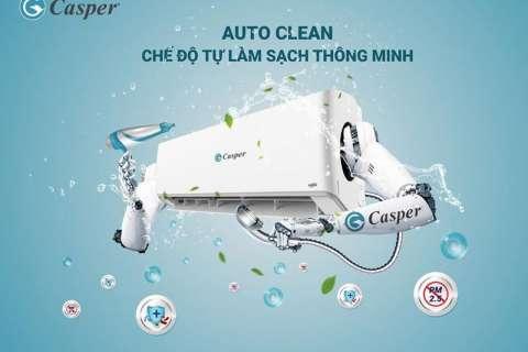 Công nghệ tự làm sạch thông minh Auto Clean của máy lạnh Casper lọc bụi bẩn và vi khuẩn