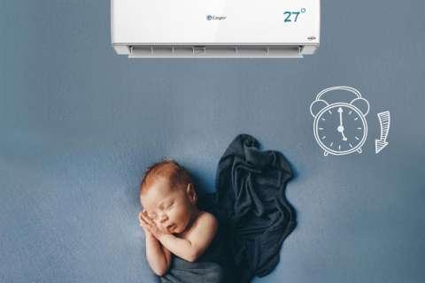 Chế độ Sleep của máy lạnh Casper giải pháp cho giấc ngủ ngon và bảo vệ sức khỏe , tiết kiệm điện tối đa