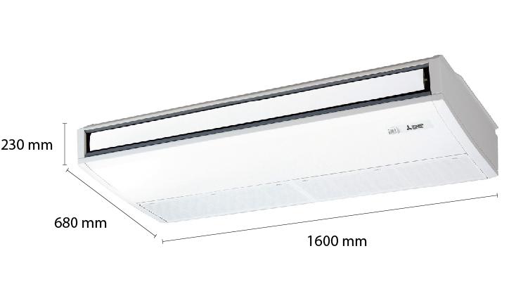 kich-thuoc-may-lanh-ap-tran-mitsubishi-electric-pcy-p48ka-5-5hp-inverter