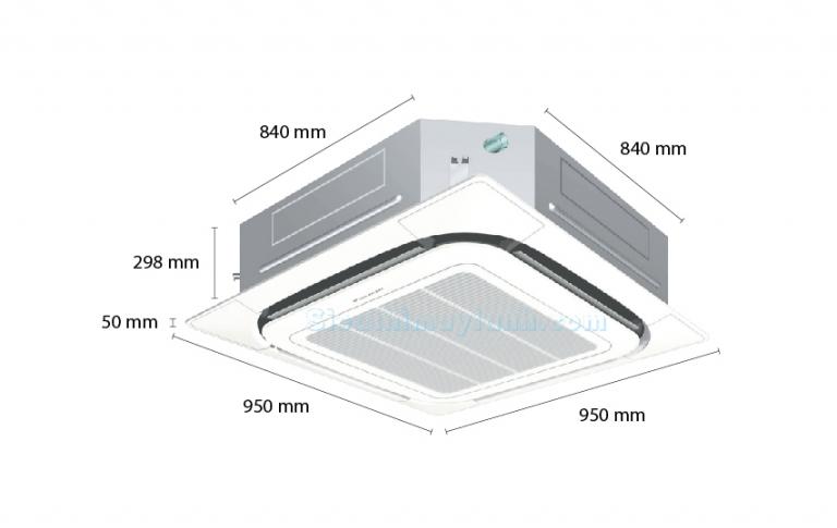 Daikin Ceiling Cassette AC Inverter FCQ125KAVEA (5.0Hp) - 3 phase