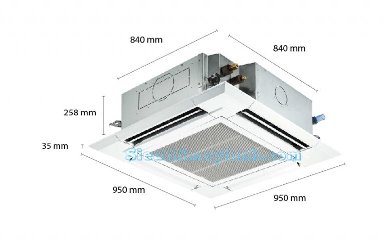 Mitsubishi Electric Ceiling Cassette Inverter PLY-P24BALCM (3.0Hp)