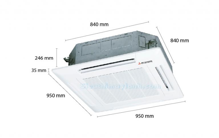 Máy lạnh âm trần Mitsubishi Heavy FDT71CR-S5 (3.0Hp)