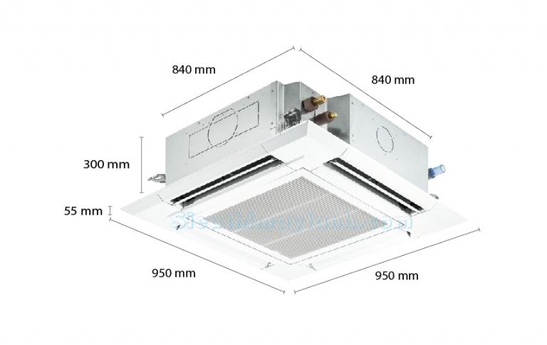 Reetech Ceiling Cassette RGT36/RC36 (1 pha-3 pha) (4.0Hp)