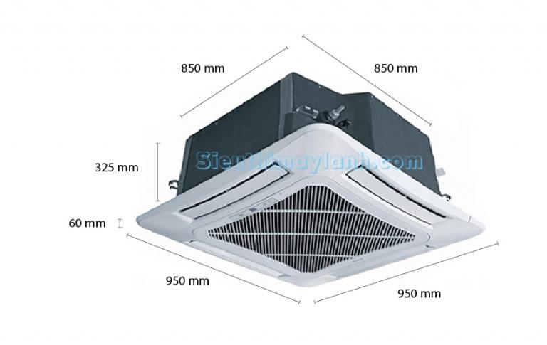 Máy lạnh âm trần Sharp GX-A42UCW (5.0Hp) - 3 pha