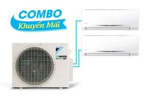 (Combo khuyến mãi) Hệ thống máy lạnh Daikin multi s inverter 2.0HP - 1 dàn nóng 2 dàn lạnh (1.0 + 1.5Hp) MKC50RVMV-CTKC25RVMV+CTKC35RVMV