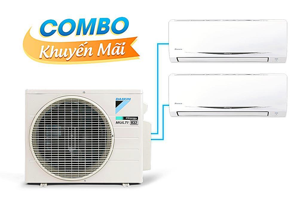 (Combo khuyến mãi) Hệ thống máy lạnh Daikin Multi S inverter 3.0Hp - MKC70SVMV-CTKC25RVMV+CTKC50SVMV