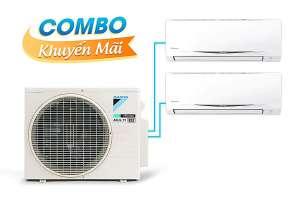 (Combo khuyến mãi) Hệ thống máy lạnh Daikin Multi S inverter 3.0Hp - MKC70SVMV-CTKC35RVMV+CTKC50SVMV