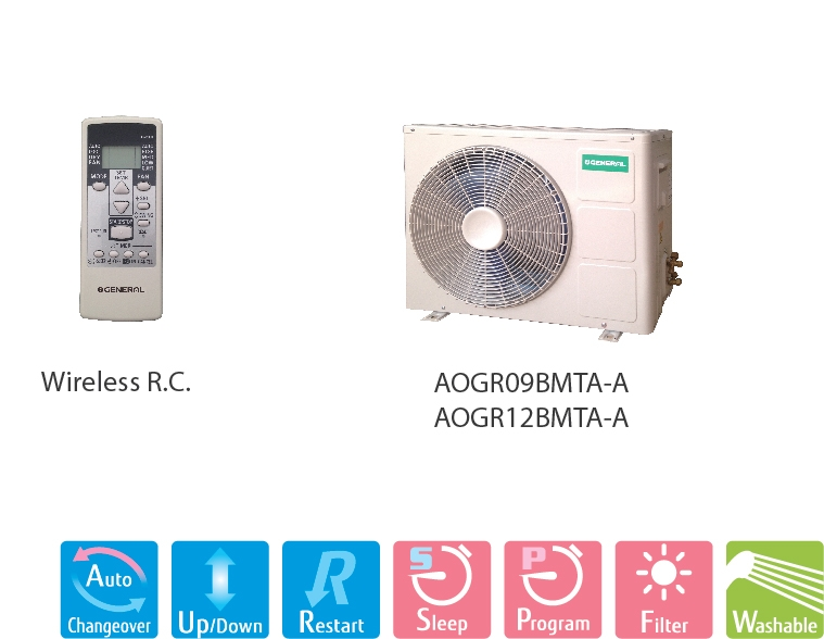 General Air Conditioner ASGA09BMTA-A (1.0Hp)