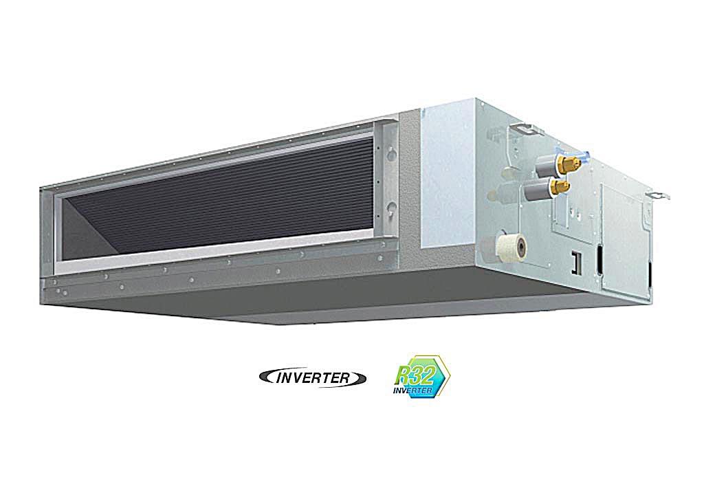 Máy lạnh giấu trần nối ống gió Daikin FBFC85DVM - RZFC85DY1 + BRC2E61 (3.5Hp) inverter - 3 pha
