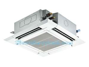 Mitsubishi Electric Ceiling Cassette Inverter PLY-P42BALCM (5.5Hp) - 3 pha