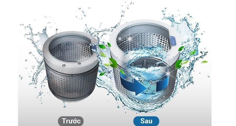 Tiết kiệm nhiều thời gian hơn với tính năng tự động vệ sinh lồng giặt