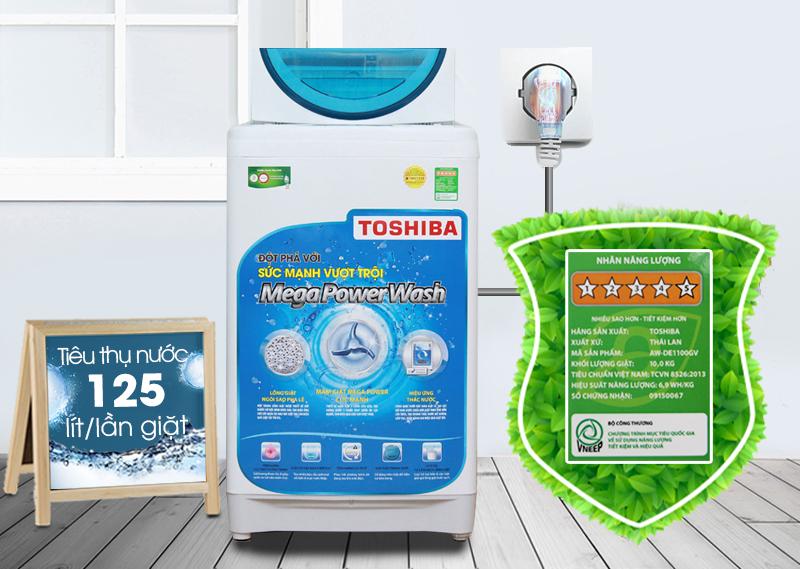 Máy giặt Toshiba AW-F920LV WB có thể tiết kiệm điện và nước