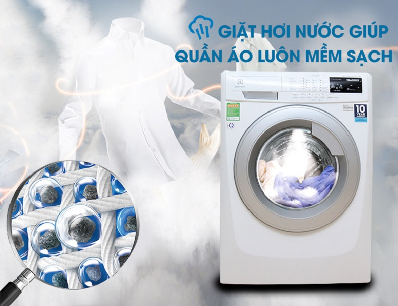 công nghệ giặt hơi nước của máy giặt Electrolux ewf12843