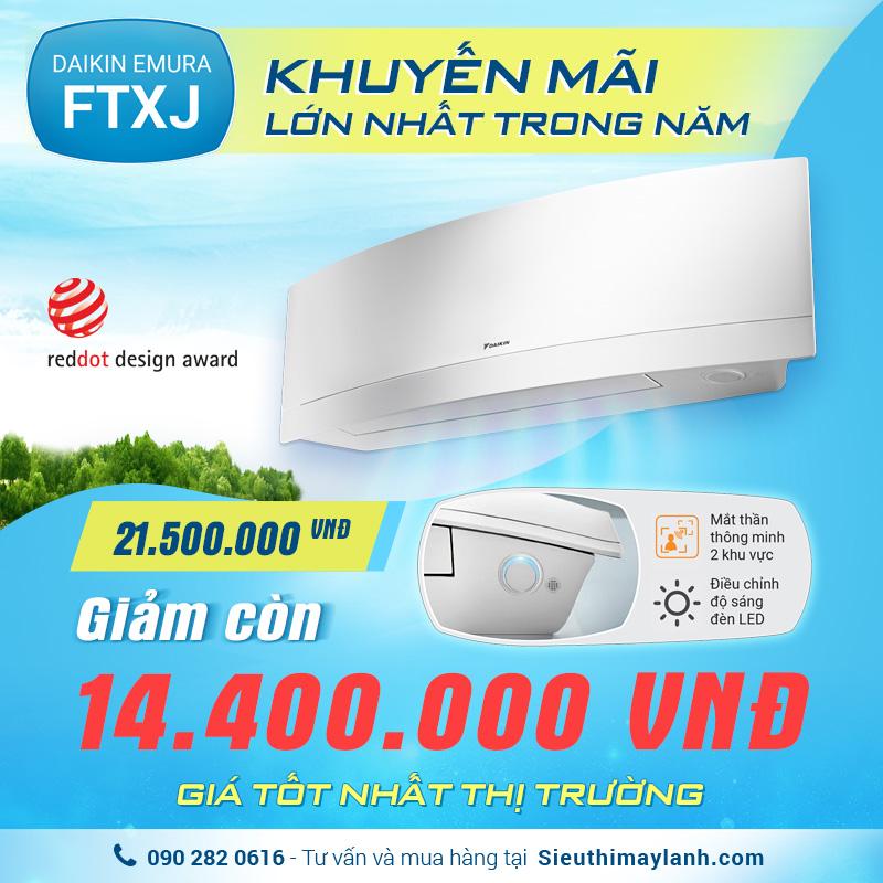 Máy lạnh Daikin FTXJ Khuyễn mãi